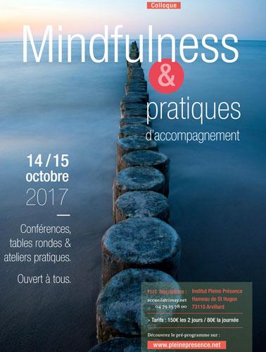 Affiche du Colloque Mindfulness et pratiques d'accompagnement