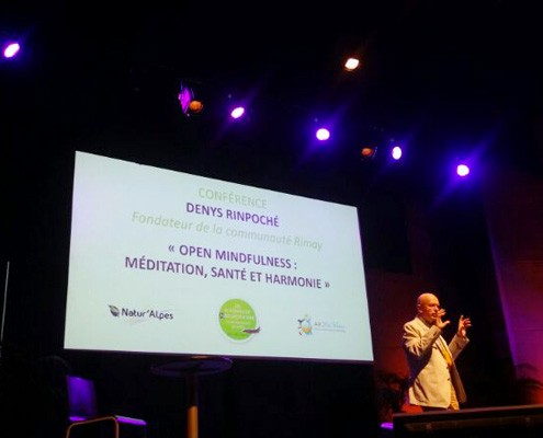 Denys Rinpoché lors de la Conférence Open Mindfulness : Méditation, santé et harmonie